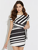 cheap Women's Dresses-Women's Party / Holiday / Club Slim Bodycon Dress - Striped