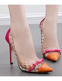 abordables Biquinis y Bañadores para Mujer-Mujer Zapatos PU Primavera / Otoño Confort Tacones Tacón Stiletto Negro / Naranja / Azul