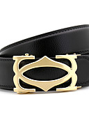 cheap Men's Belt-Men's Party / Work / Casual Waist Belt - Solid Colored Metal