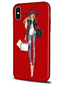 preiswerte iPhone Hüllen-Hülle Für Apple iPhone X / iPhone 8 Plus Muster Rückseite Sexy Lady / Cartoon Design Weich TPU für iPhone XS / iPhone XR / iPhone XS Max