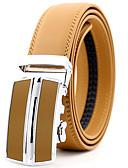 cheap Men's Belt-Men's Party Work Leather Alloy Waist Belt - Solid Colored Metal