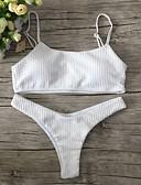 halpa Bikinit ja uima-asut 2017-Naisten Bandeau Bikini - Perus, Yhtenäinen Niskalenkki Stringit