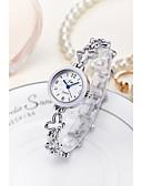 abordables Relojes Brazalete-Mujer Reloj Pulsera / Reloj de Pulsera Chino Resistente al Agua Aleación Banda Destello / Brazalete / Moda Plata / Dorado