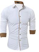 preiswerte Herrenhemden-Herrn Blumen Baumwolle Hemd