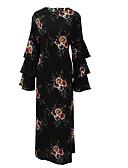 cheap Women's Dresses-Women's Holiday Vintage Cotton Sheath Dress - Print Maxi