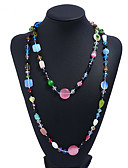 cheap Women's Tanks & Camisoles-Women's Opal Chain Necklace - Opal Fashion Rainbow Necklace Jewelry For Daily, Formal