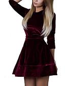 זול שמלות נשים-מיני אחיד - שמלה נדן קטיפה בגדי ריקוד נשים