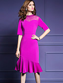 cheap Women's Dresses-Women's Going out Street chic Sheath Dress - Solid Colored Ruched