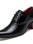 olcso Férfi pólók és kardigánok-Férfi Formális cipők PU Tavasz / Ősz Félcipők Fekete