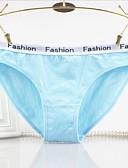 baratos Calcinhas-Mulheres Fina Ultra Sexy, Com Stretch Sólido, Fibra Sintética 1 Azul Branco Preto Rosa Cinzento
