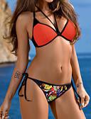 abordables Biquinis y Bañadores para Mujer-Mujer Bikini - Estampado, Un Color