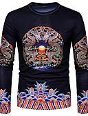 זול סוודרים וקרדיגנים לגברים-צווארון עגול טישרט - בגדי ריקוד גברים דפוס