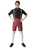 preiswerte Hochzeit Schals-Schüler / Schuluniform Cosplay Kostüme Herrn Halloween Karneval Fest / Feiertage Austattungen Schwarz Einfarbig Grid / -Plaid-Muster