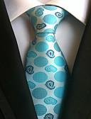 זול חולצות לגברים-עניבת צווארון - מנוקד עבודה / יום יומי בגדי ריקוד גברים