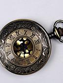 Недорогие Карманные часы-Для пары Карманные часы Кварцевый Черный / Золотистый С гравировкой Повседневные часы Cool Аналоговый Дамы Роскошь На каждый день - Черный Золотистый