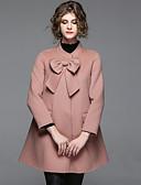 povoljno Ženske haljine-Kaput Žene - Ulični šik Izlasci Jednobojni Mašna
