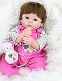 olcso Férfi nadrágok és rövidnadrágok-NPK DOLL Reborn Dolls Lány babák 18 hüvelyk Szilikon Vinil - élethű Cuki Kézzel készített Gyermekbiztos Non Toxic Szeretetreméltő Gyerek Lány Játékok Ajándék / Szülő-gyermek interakció / CE