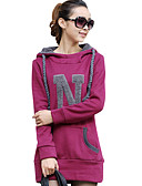 cheap Women's Hoodies & Sweatshirts-Women's Going out Long Hoodie - Solid Colored / Letter / Spring / Fall