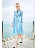preiswerte Damen Kleider-Damen Aufflackern-Hülsen- Hülle Kleid - Spitze, Solide Rundhalsausschnitt