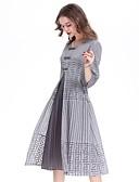 baratos Vestidos de Mulher-Mulheres Temática Asiática Boho Solto Vestido - Pregueado, Sólido