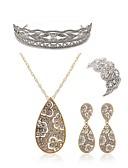 olcso Női hálóruházat-Női Ékszer szett - Hamis gyémánt Lógó Európai, Divat tartalmaz Diadémek  / Menyasszonyi Ékszerek Arany Kompatibilitás Esküvő / Parti