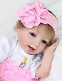 זול סוודרים וקרדיגנים לגברים-NPK DOLL בובה מחדש תינוק 22 אִינְטשׁ סיליקון / ויניל - כְּמוֹ בַּחַיִים, ריסים ידניים, ציפורניים אטומות וחותמות הילד של יוניסקס מתנות / CE / עור טבעי / ראש דיסקט