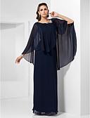preiswerte Abendkleider-Eng anliegend Schmuck Boden-Länge Chiffon Formeller Abend Kleid mit Kristall Verzierung durch TS Couture®