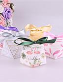 abordables Soportes para Regalo-Square Shape Papel de tarjeta Soporte para regalo  con Cintas Cajas de regalos - 25pcs