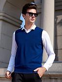 זול סוודרים וקרדיגנים לגברים-אחיד - וסט רזה ללא שרוולים צווארון V יום יומי סוף שבוע בגדי ריקוד גברים