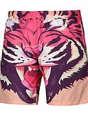 זול מכנסיים ושורטים לגברים-בגדי ריקוד גברים פעיל פאנק & גותיות רגל רחבה שורטים מכנסיים דפוס