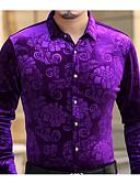 tanie Męskie koszule-Koszula Męskie Wzornictwo chińskie, Nadruk Bawełna Praca / Długi rękaw