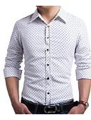 זול חולצות לגברים-מנוקד צווארון קלאסי רזה עסקים סגנון רחוב חולצה - בגדי ריקוד גברים
