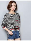 ieftine Cămașă-Pentru femei Tricou Șic Stradă-Dungi