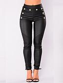 abordables Pantalones para Mujer-Mujer Básico Legging - Un Color Media cintura
