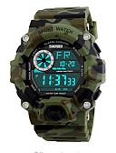 Недорогие Спортивные часы-SKMEI Наручные часы Цифровой Стеганная ПУ кожа Черный / Зеленый 50 m Защита от влаги Календарь Хронометр Цифровой На каждый день Мода - Розовый Светло-Зеленый Темно-зеленый / Фосфоресцирующий