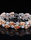 cheap Women's Dresses-Women's Synthetic Diamond Bracelet - Silver Plated Bracelet White / Orange / Purple For Wedding / Party