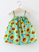 baratos Vestidos para Bebês-bebê Para Meninas Floral Sem Manga Algodão / Fofo