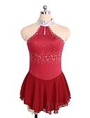 זול שמלות להחלקה על הקרח-שמלה להחלקה אמנותית בגדי ריקוד נשים / בנות החלקה על הקרח שמלות אדום / כחול ים ספנדקס ביגוד להחלקה על הקרח נצנצית ללא שרוולים החלקה אמנותית