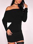 olcso Női ruhák-Női Utcai sikk Nadrág - Egyszínű Fekete / Mini / Csónaknyak / Alkalmi