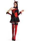 זול שמלות נשים-קוסם תחפושות קוספליי בגדי ריקוד נשים האלווין (ליל כל הקדושים) פסטיבל / חג תחפושות ליל כל הקדושים תלבושות שחור משובץ / משבצות