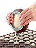 billige Blomsterpikekjoler-silikon macaron pot med 3 dyser sett bakepenn til kake dekorere verktøy