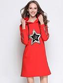 זול שמלות נשים-מעל הברך פאייטים, גלקסיה - שמלה ישרה סגנון רחוב בגדי ריקוד נשים