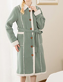 cheap Women's Coats & Trench Coats-Fresh Style Bath Robe, Solid Superior Quality 100% Polyester Cotton/Polyester Towel