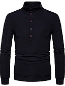 cheap Men's Sweaters & Cardigans-Men's Casual Long Sleeve Pullover - Solid Colored Round Neck