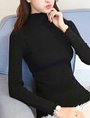זול שמלות נשים-מבוגרים מידה אחת שחור / אפור / יין צווארון עגול חורף קשמיר, קרדיגן ארוך שרוול ארוך אחיד יומי בגדי ריקוד נשים