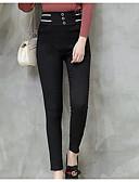 preiswerte Damenmäntel und Trenchcoats-Damen Einfarbig Legging - Solide Mittlere Taillenlinie