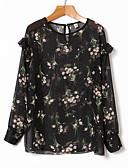 זול שמלות נשים-פרחוני חמוד חולצה-בגדי ריקוד נשים