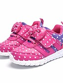 זול טישרטים לגופיות לגברים-בנות נעליים PU אביב נוחות נעלי ספורט ל כסף / פוקסיה