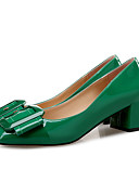 abordables Vestidos de Dama de Honor-Zapatos PU Primavera / Otoño Confort Tacones Tacón Cuadrado Dedo cuadrada Negro / Verde / Nudo