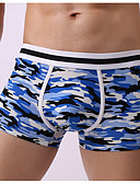 cheap Men's Exotic Underwear-Men's Boxers Underwear Solid Color / Camouflage Color Mid Waist